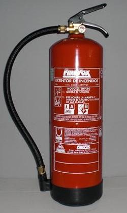 HIDRICO 6L - Extintor hídrico 6l