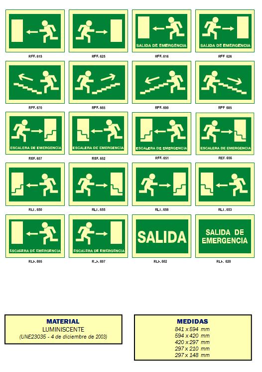 evacuacion 1 - Señales de evacuación