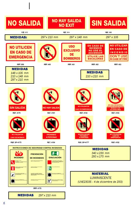 evacuacion 3 - Señales de evacuación