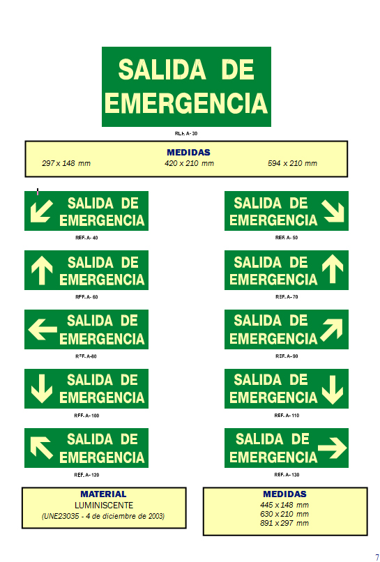 evacuacion 4 - Señales de evacuación