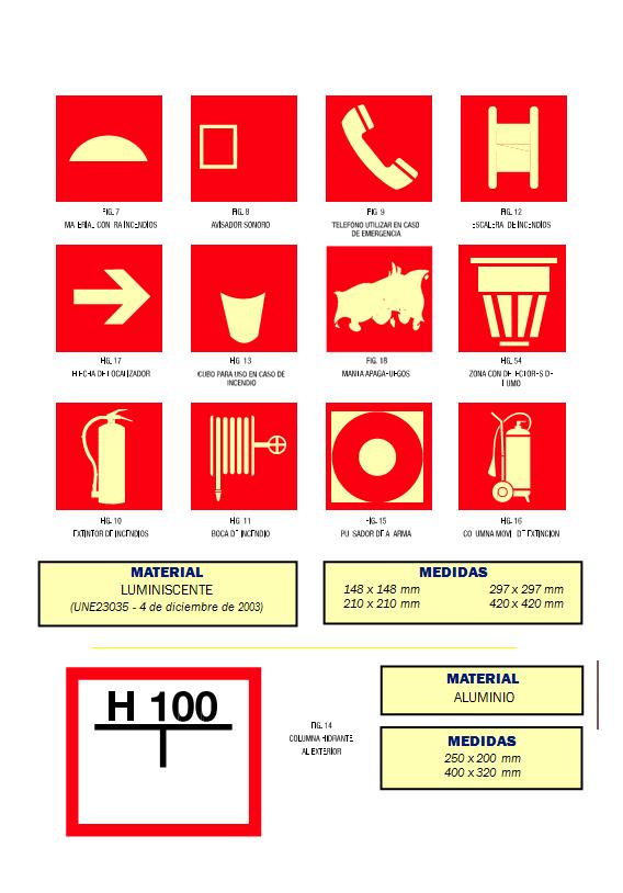 incendios 01 - Señales de incendios